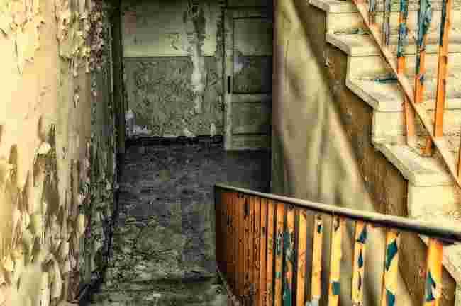 moldy staircase
